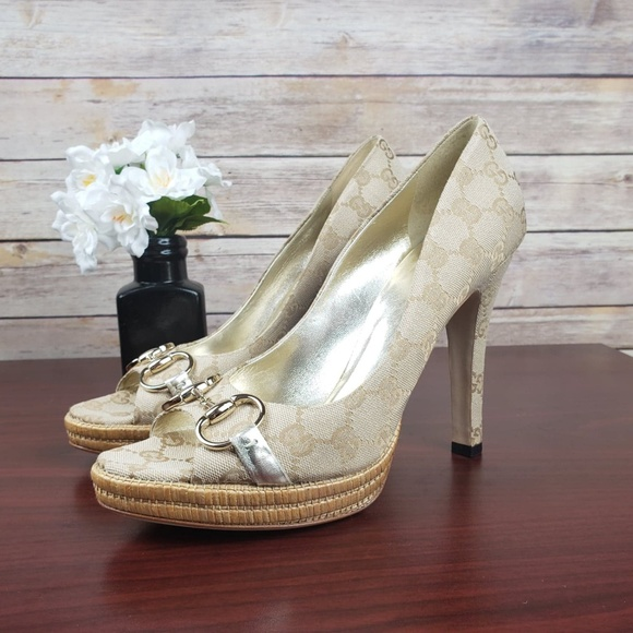 1be9aae3a Gucci Shoes | Nwob Sima Platform Horsebit Pumps | Poshmark